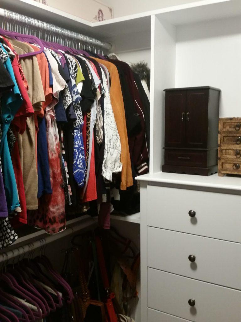 Small Closet, makeover