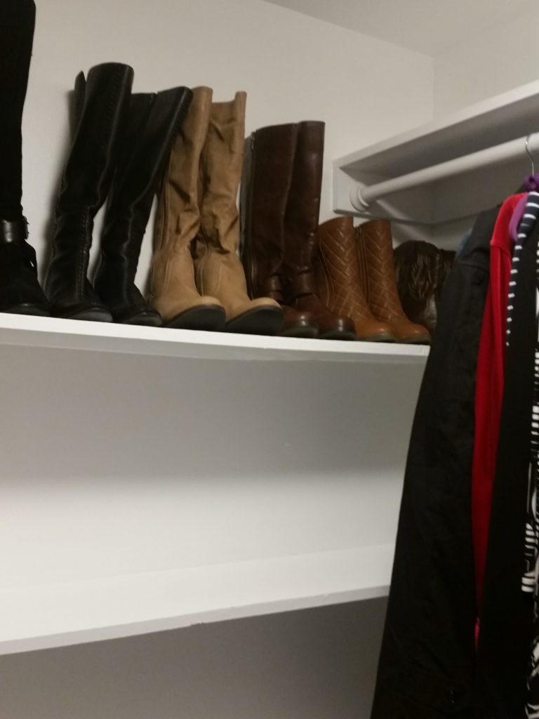 Boot & Shoe Shelf, closet makeover