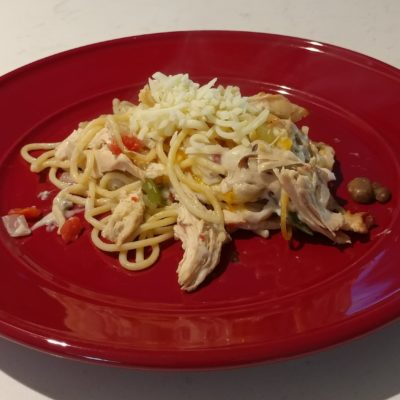 Carey's Chicken Spaghetti Casserole