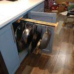 new kitchen, remodeled kitchen, flooded kitchen, pot rack