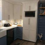 New kitchen, remodeled kitchen, flooded kitchen, new kitchen microwave