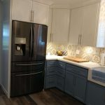 new kitchen, remodeled kitchen, flooded kitchen, new kitchen refrigerator