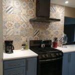 New kitchen, remodeled kitchen, flooded kitchen, new range