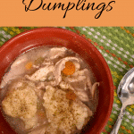 Homemade chicken and dumplings. Old fashioned, easy, from scratch chicken and dumpling recipe. Ultimate comfort dish.