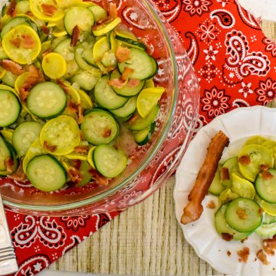 Bacon Fried Squash and Zucchini